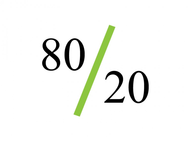 Think 80/20 When Using Your Strengths And Weakness